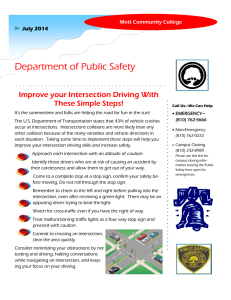 Department of Public Safety Improve your Intersection Driving With These Simple Steps!