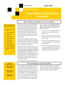 Department of Public Safety Newsletter August 2008