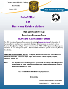Relief Effort For Hurricane Katrina Victims Hurricane Katrina Relief Effort