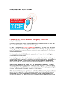 Have you got ICE in your mobile?