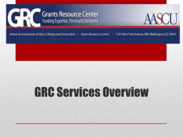 GRC Services Overview