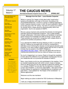 THE CAUCUS NEWS  Volume 17 Issue 2