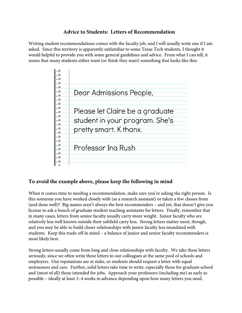Letter Of Recommendation For Graduate Student from s2.studylib.net