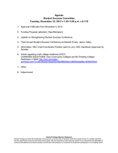 Agenda Student Success Committee –3:00 p.m. Tuesday, November 19, 2013