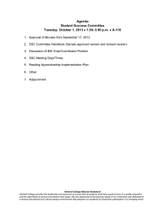 Agenda Student Success Committee –3:00 p.m. Tuesday, October 1, 2013