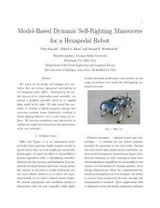 Model-Based Dynamic Self-Righting Maneuvers for a Hexapedal Robot Uluc. Saranli