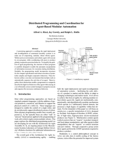 Distributed Programming and Coordination for Agent-Based Modular Automation
