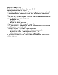 Homework: October 7, 2015 tax incidence
