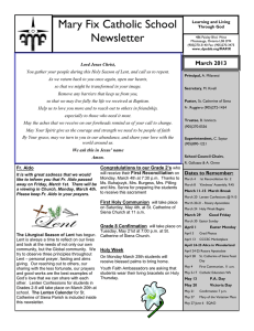 Mary Fix Catholic School Newsletter