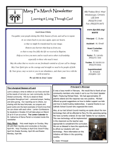 Mary Fix March Newsletter Learning & Living Through God