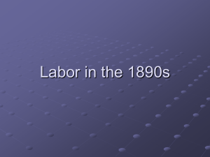 Labor in the 1890s