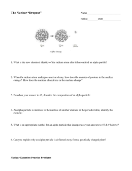 Honors chemistry nuclear reactions and half life problems worksheet 1 answers