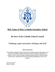 Holy Name of Mary Catholic Secondary School