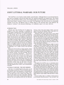 JOINT LITTORAL WARFARE:  OUR FUTURE