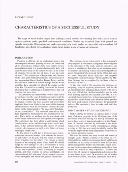 CHARACTERISTICS  OF A  SUCCESSFUL STUDY