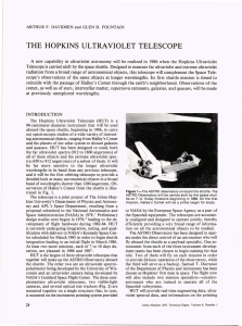 THE  HOPKINS  ULTRAVIOLET  TELESCOPE