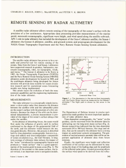 REMOTE  SENSING  BY  RADAR  ALTIMETRY