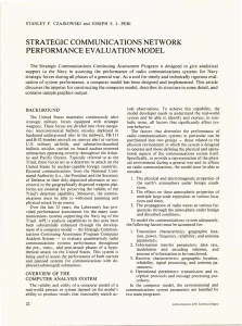 STRATEGIC COMMUNICATIONS NETWORK PERFORMANCE EVALUATION MODEL