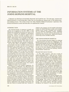 INFORMATION SYSTEMS AT THE JOHNS HOPKINS HOSPITAL