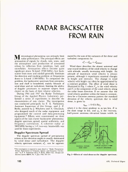 RADAR  BACKSCATTER FROM  RAIN M