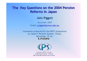 The  Key Questions on the 2004 Pension Reforms in Japan