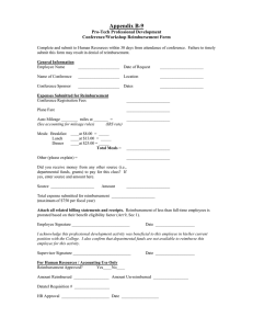 Appendix B-9  Pro-Tech Professional Development Conference/Workshop Reimbursement Form