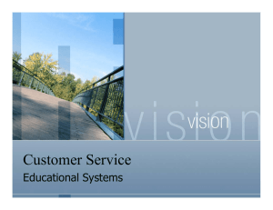 Customer Service Educational Systems