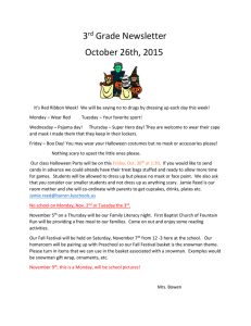 3 Grade Newsletter October 26th, 2015