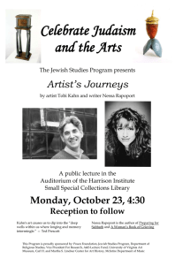 Celebrate Judaism and the Arts Artist's Journeys