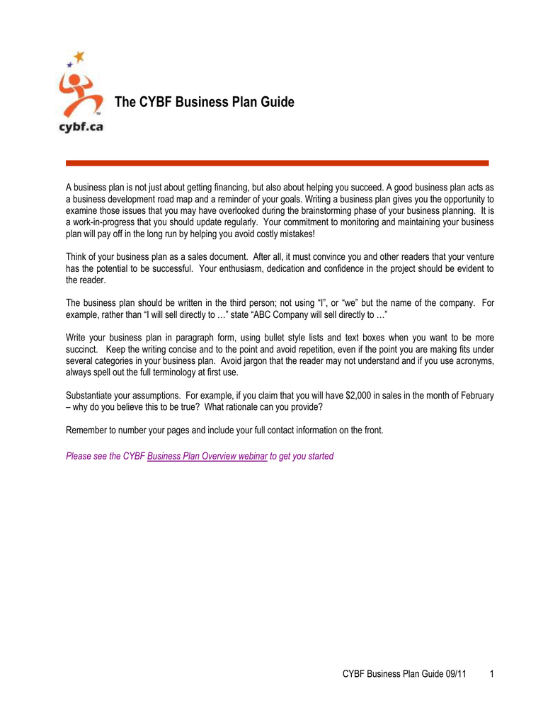 cybf business plan
