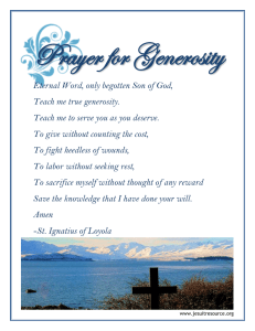 Prayer for Generosity