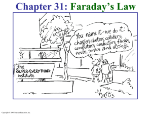 Chapter 31: Faraday's Law Copyright © 2009 Pearson Education, Inc.