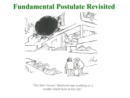 Fundamental Postulate Revisited