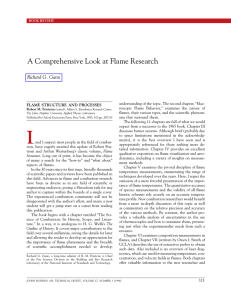 A Comprehensive Look at Flame Research Richard G. Gann