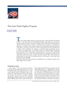 T The Joint Strike Fighter Program Craig E. Steidle
