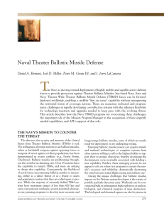 T Naval Theater Ballistic Missile Defense