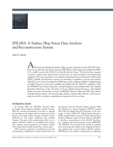 A SPEARS: A Surface Ship Sonar Data Analysis and Reconstruction System