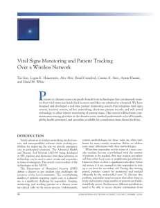 Vital	signs	monitoring	and	patient	Tracking over	a	Wireless	network