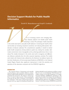 W Decision Support Models for Public Health Informatics
