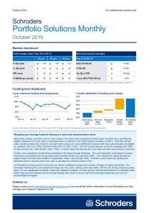 Portfolio Solutions Monthly Schroders October 2015