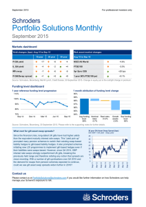 Portfolio Solutions Monthly Schroders September 2015
