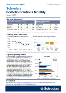 Schroders Portfolio Solutions Monthly