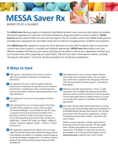 MESSA Saver Rx BENEFITS AT A GLANCE
