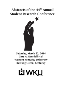 Abstracts of the 44 Annual Student Research Conference