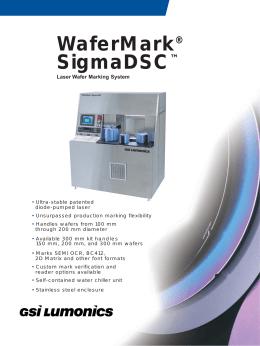 WaferMark SigmaDSC ® ™