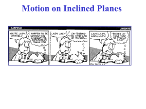 Motion on Inclined Planes