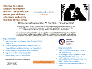 Online Parenting Courses: At Anytime, From Anywhere! F E C