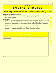 S O C I A L   S T... Kentucky Academic Expectations and Learning Goals