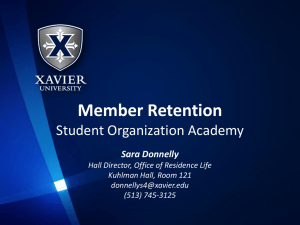 Member Retention Student Organization Academy Sara Donnelly