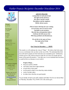 Father Francis McSpiritt December Newsletter 2014